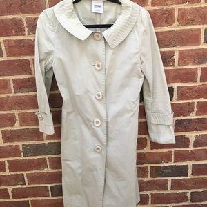 3e81cd1568707 Moschino Jackets & Coats | Purple Pink Polka Dot Trench Coat Size 4 ...